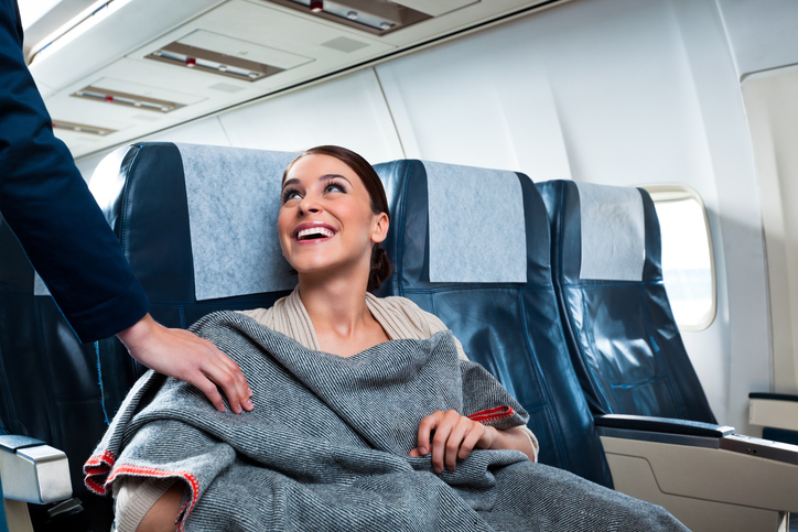 Coperta per l'aria fresca in aereo
