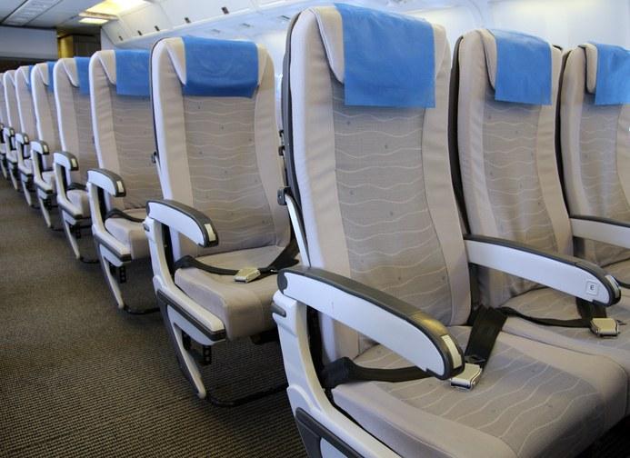 Tra i sedili dell'aereo c'è un bottone segreto
