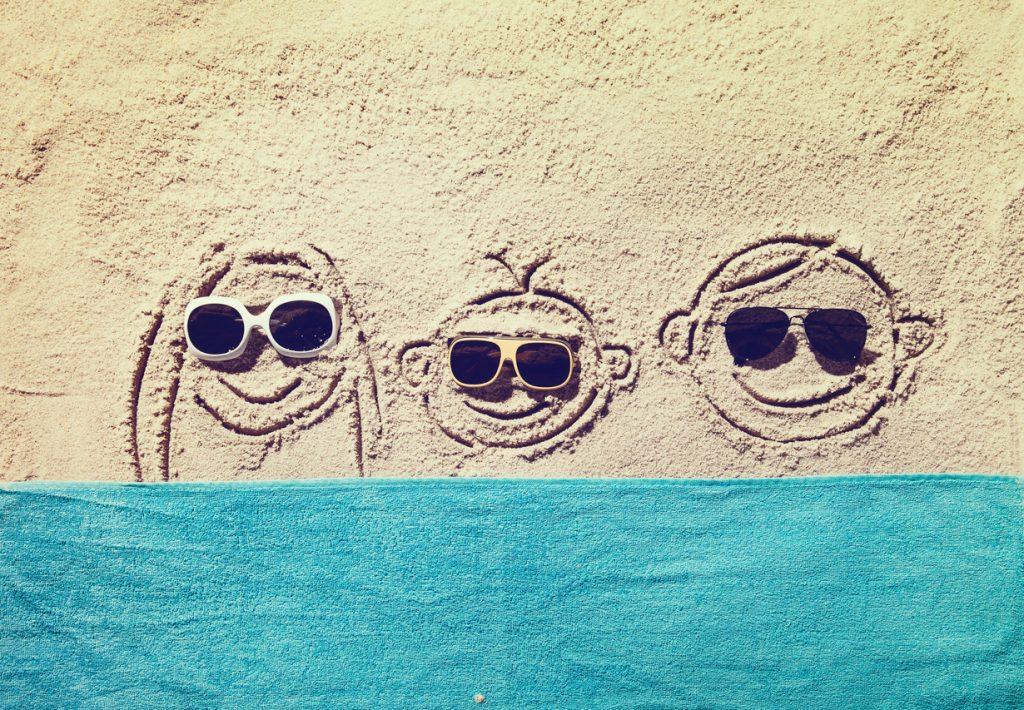 occhiali da sole, occhi e viso