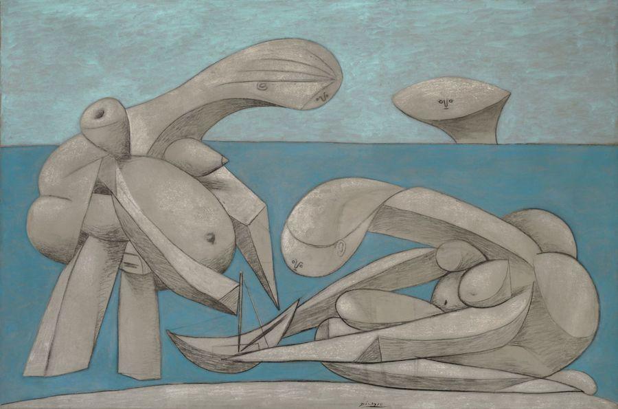 Picasso, sulla spiaggia, Guggenheim