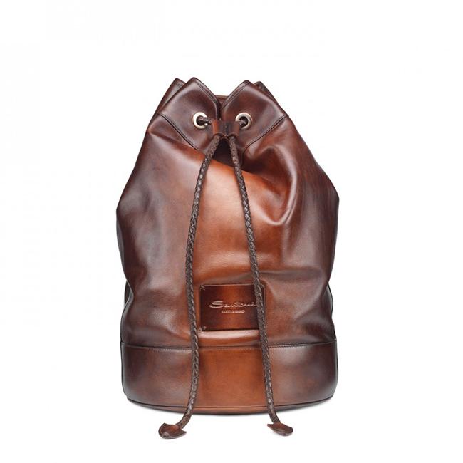 leather mania: sacca Santoni