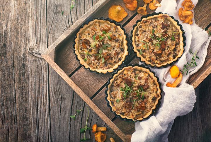 Quiche ai funghi con frolla vegan: la ricetta