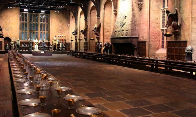 Studios di Harry Potter, sala grande