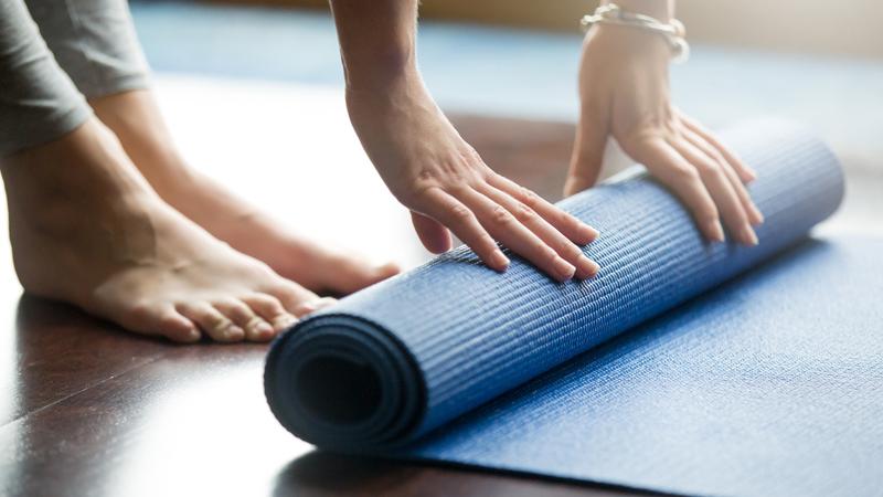 tappetino yoga sporco causa herpes