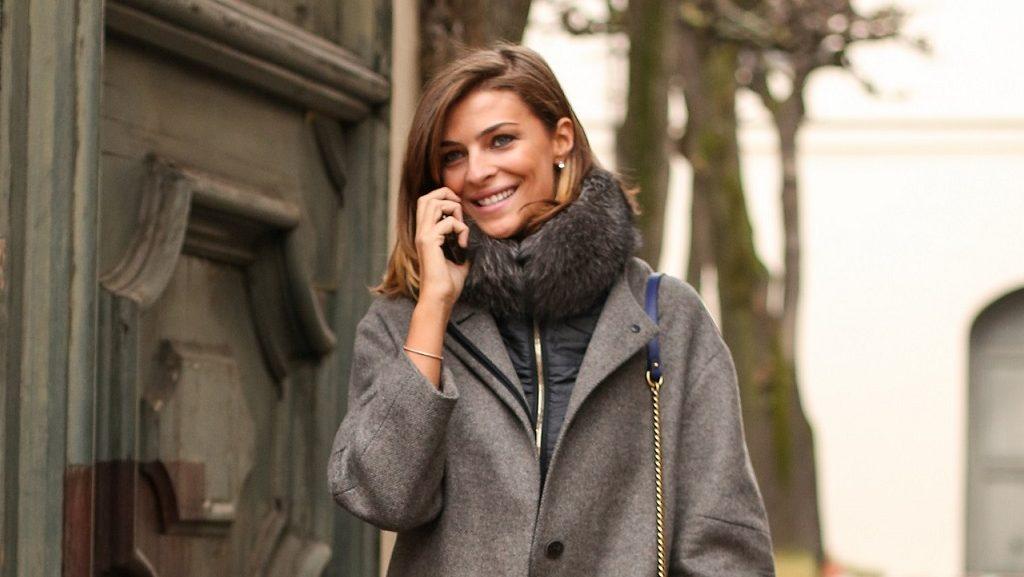 Cristina Chiabotto regina del capospalla invernale