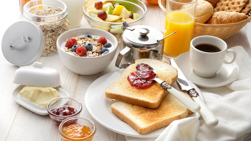 Fare colazione al mattino