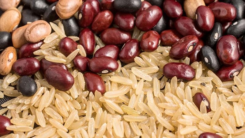 fagioli e riso, dieta vegan