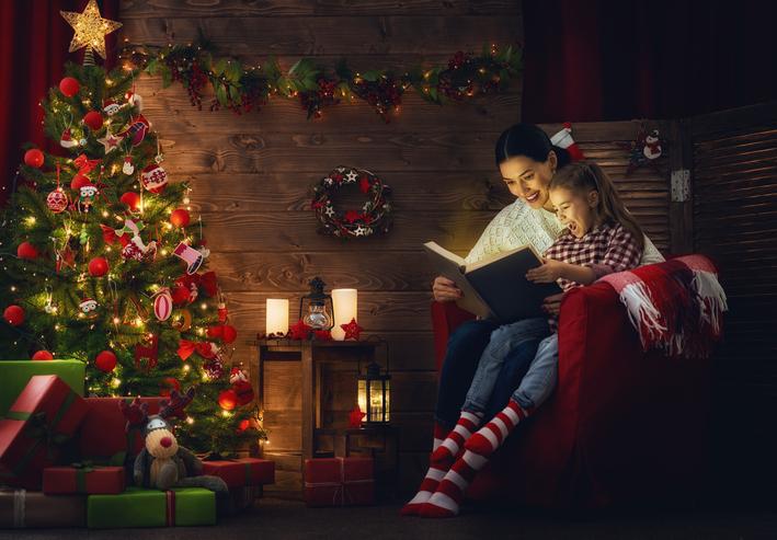 libri, riviste, natale, famiglia