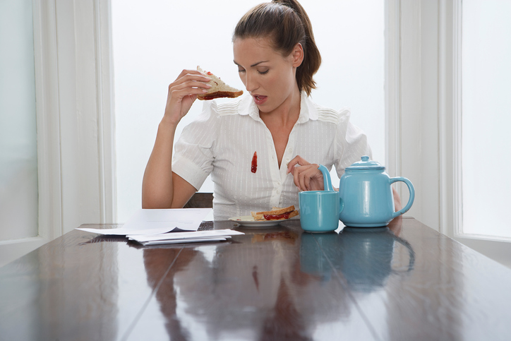 pulizie e macchie, colazione