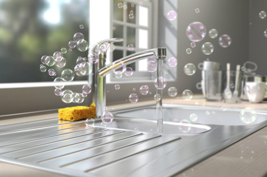pulizia del lavello