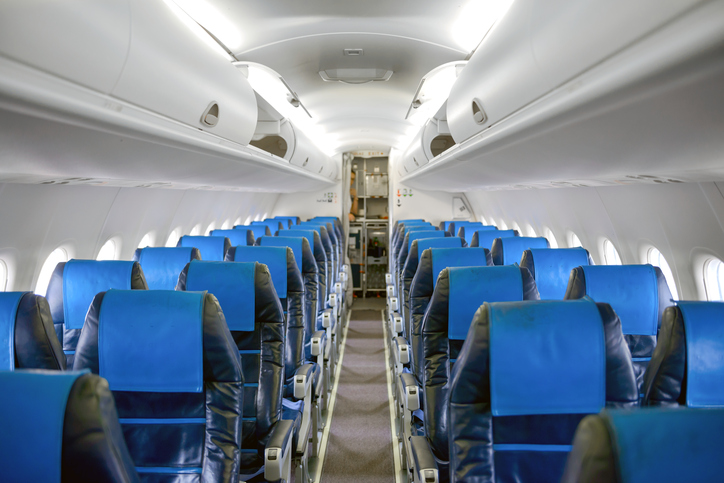 Interni degli aerei blu: ecco la ragione