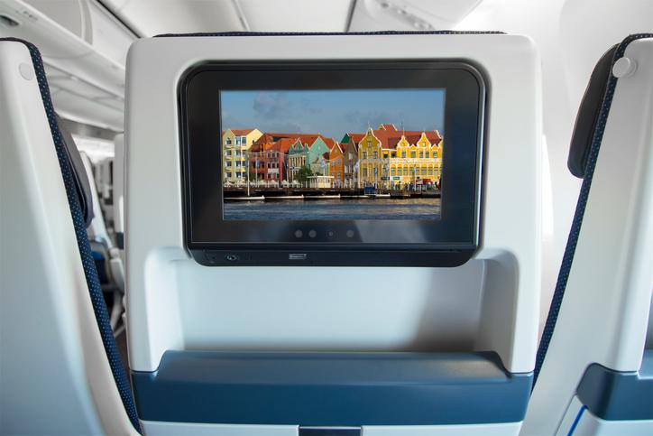 Display sul sedile di un aereo