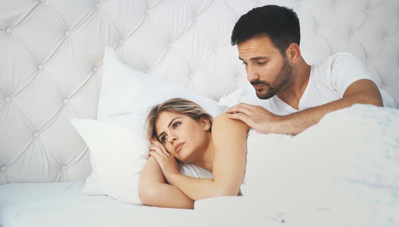 amore, sesso, coppie, letto, sguardo