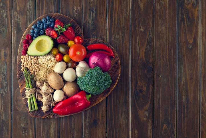 Cuore, vegano, verdure