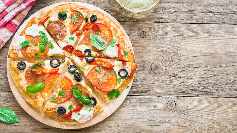 pizza, colazione da campioni
