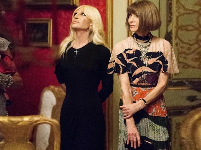 Donatella Versace e Anna Wintour