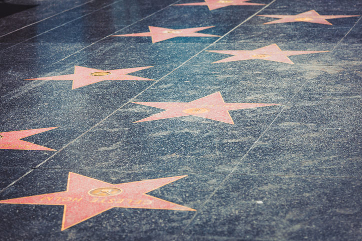 Walk of Fame in Hollywood, academy award