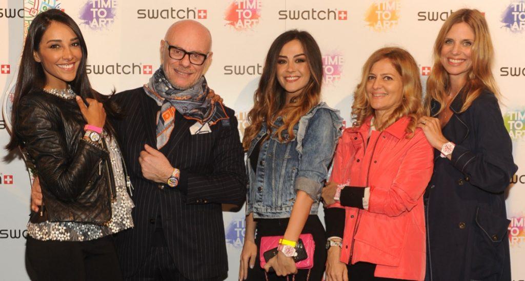 Juliana Moreira, Carlo Giordanetti, Giorgia Palmas, Francesca Ginocchio, Filippa Lagerback per Swatch