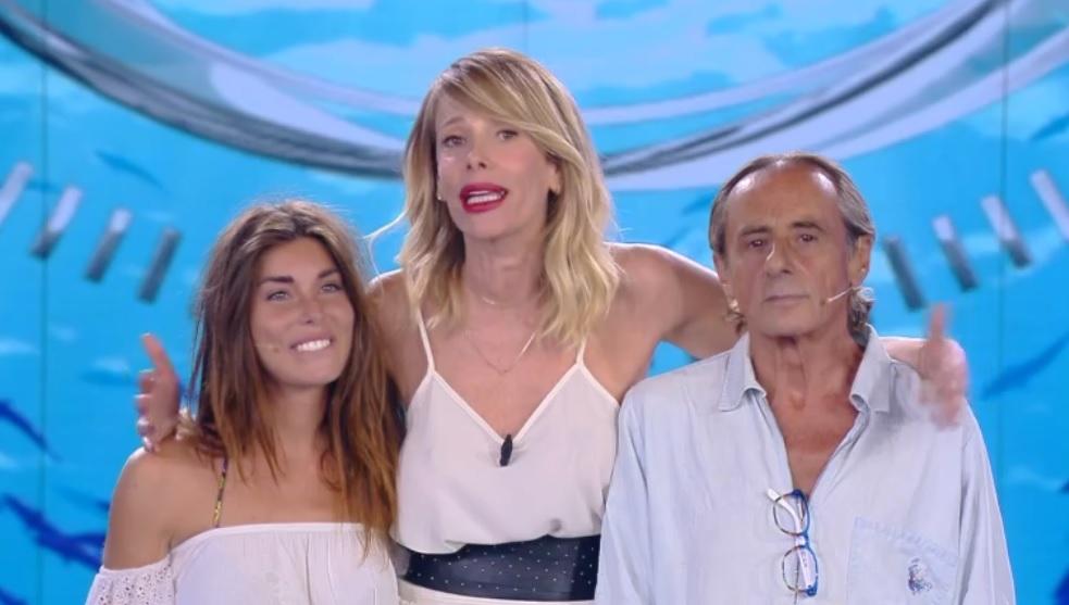 Bianca Atzei, Alessia Marcuzzi e Nino Formicola