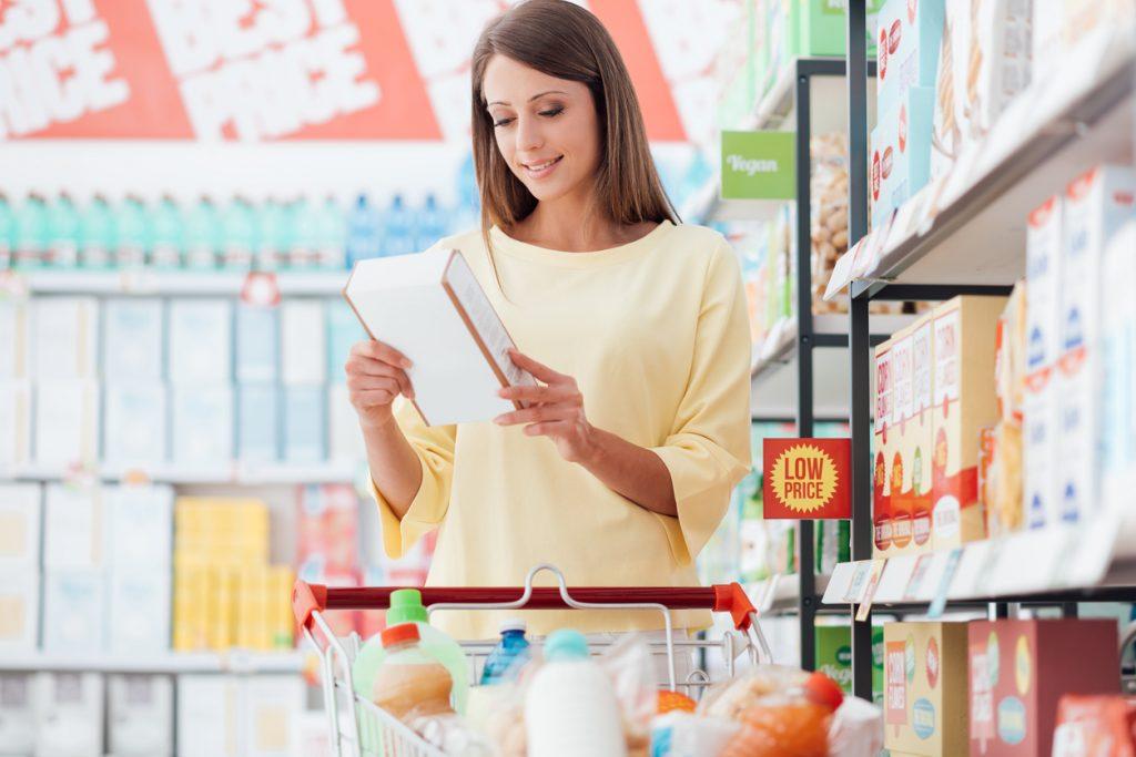 etichette sul cibo