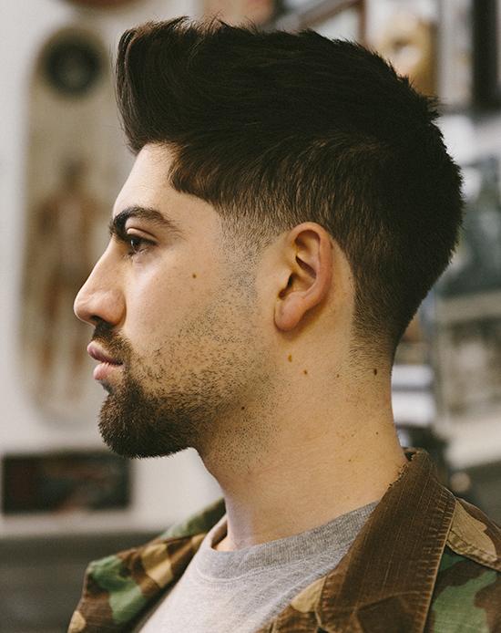 Taglio capelli uomo normale