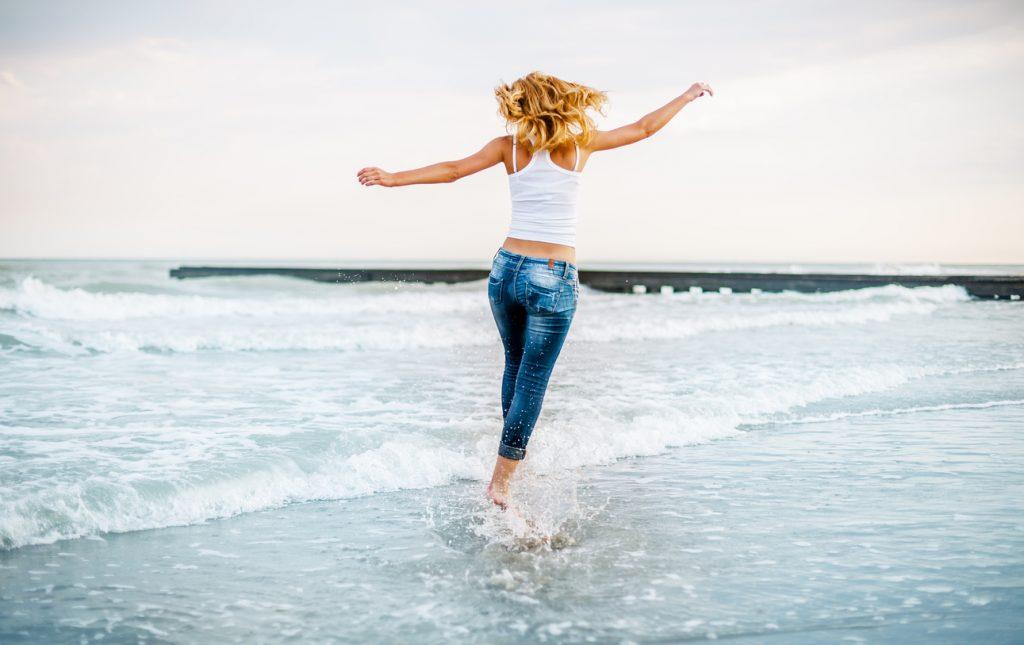 jeans preferiti anche al mare