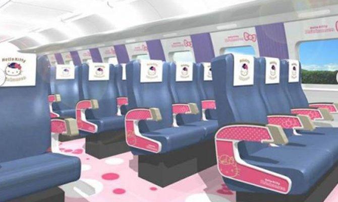 In Giappone il treno di Hello Kitty