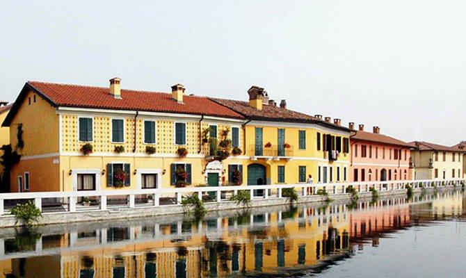 Navigli Lombardi, tratto in città