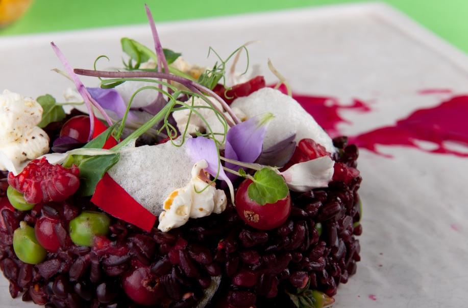riso ai frutti rossi con ribes e more