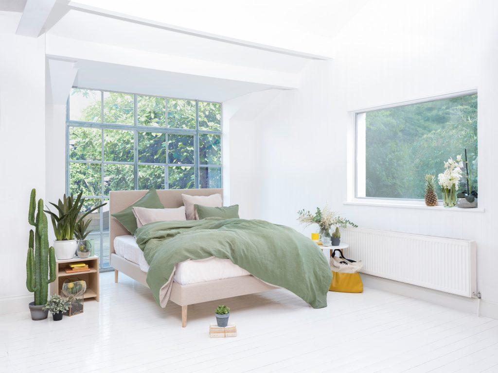 Tessuti naturali in camera da letto
