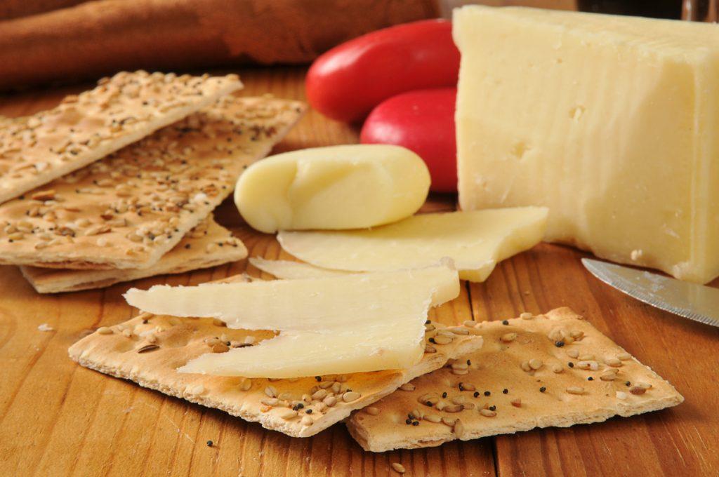 Crackers e formaggio