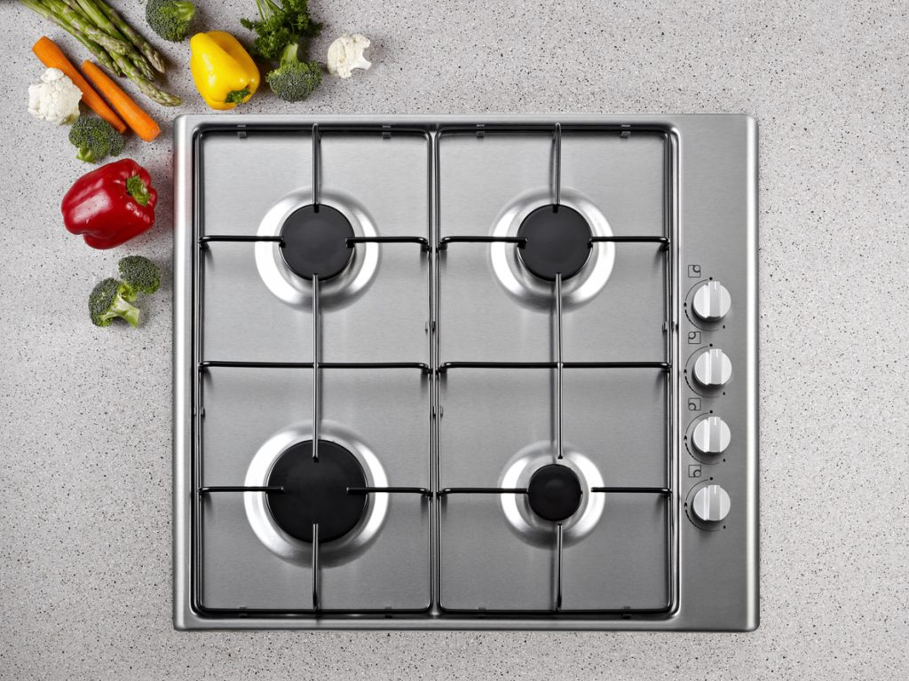 Come pulire una cucina a gas, piano cottura e griglie