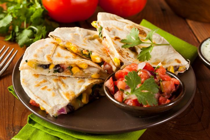 Quesadillas, lo spuntino messicano è anche veg