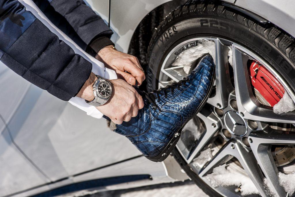 Calzature per il gentlemen driver