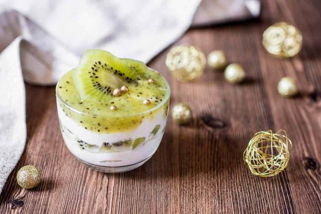 Mousse dolce di robiola e kiwi Zespri Green