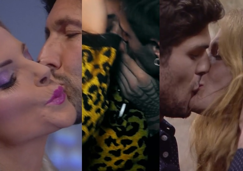 baci al GF Vip con Nudo, Cipriani, Monte, Salemi, Fongaro e Alexander