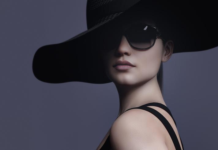occhiali montatura nera