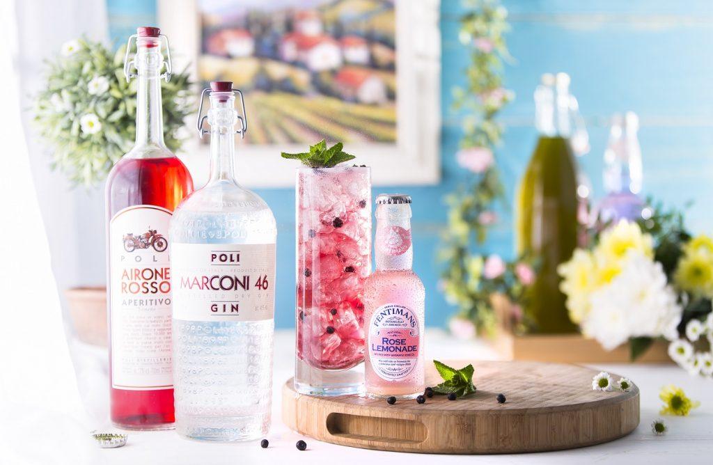 Negroni Rosè cocktail rosato