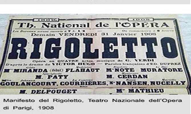 Rigoletto, locandina di inizi Novecento