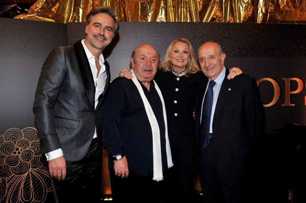Beppe Convertini, Lino Banfi,Barbara Bouchet e il presidente di Unicef Francesco Samengo