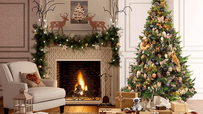 arredo natalizio, stile naturale