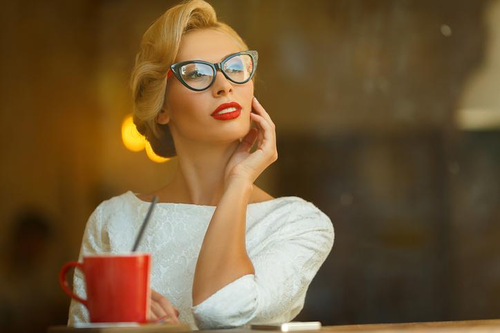 taglia 40 ccf79 6f255 occhiali da gatto cat-eye marilyn occhiale da vista anni 50