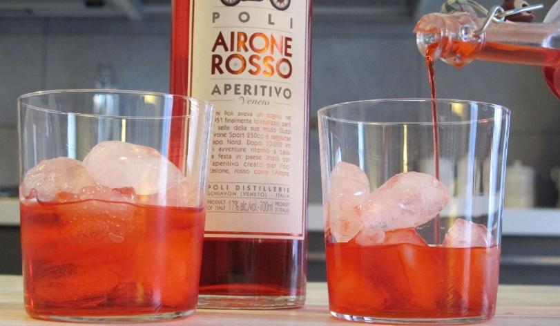 Spritz e Airone, un cocktail rosso come l'amore