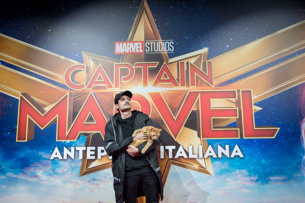 Fabio Rovazzi per il party di Captain Marvel