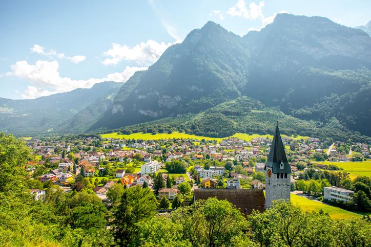 Liechtenstein, villaggio di Balzers