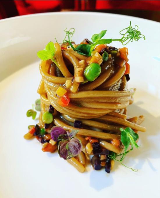Spaghettone vegetariano