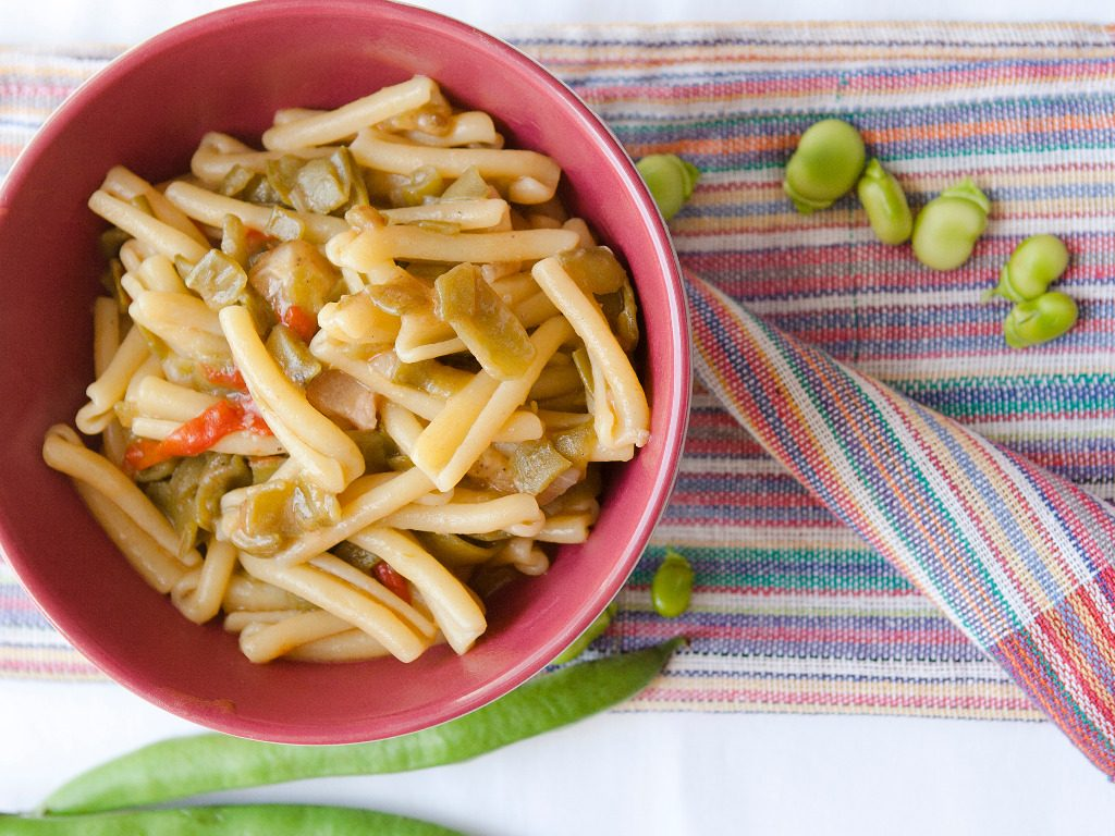 pasta fredda con le fave