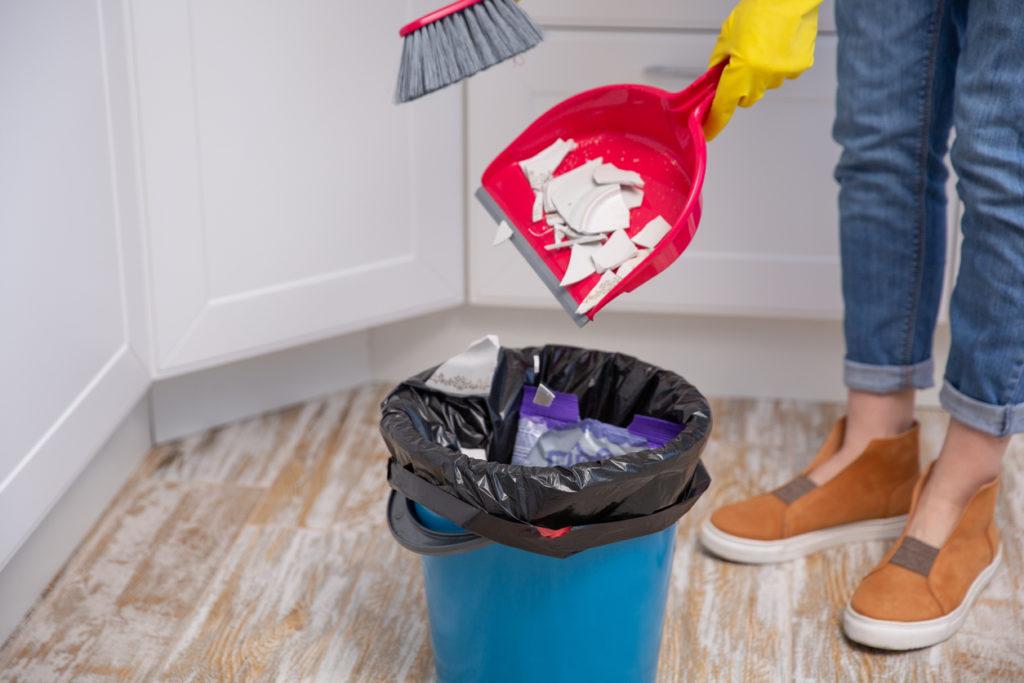 Come pulire il portarifiuti