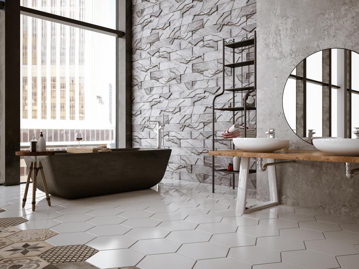 Pavimenti Moderni Senza Fughe bagno di tendenza, un tocco di stile per la vostra casa