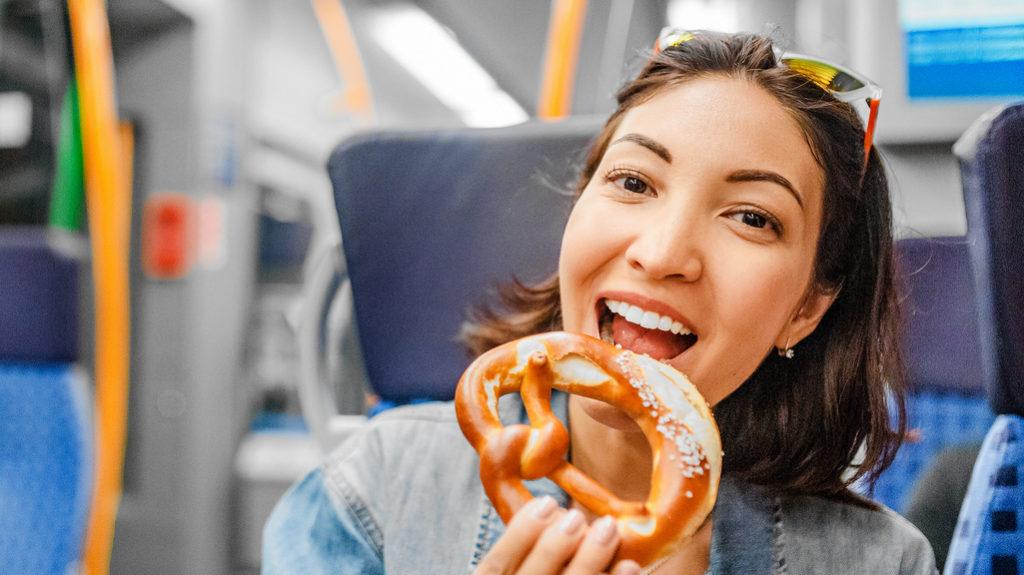 Mangiare sui mezzi pubblici